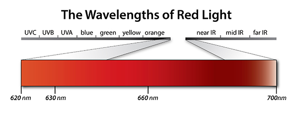 The Wavelengths of Red Light Photobiomodulation