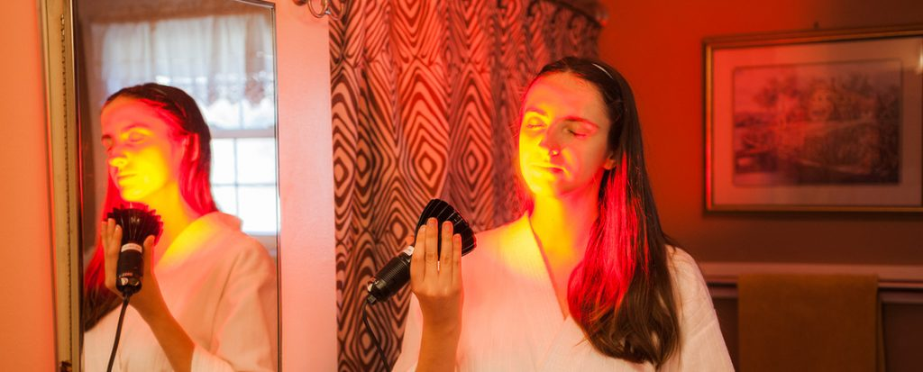 Red Light Therapy with the Pure Red HP LED Powerhead by Smarterlights.