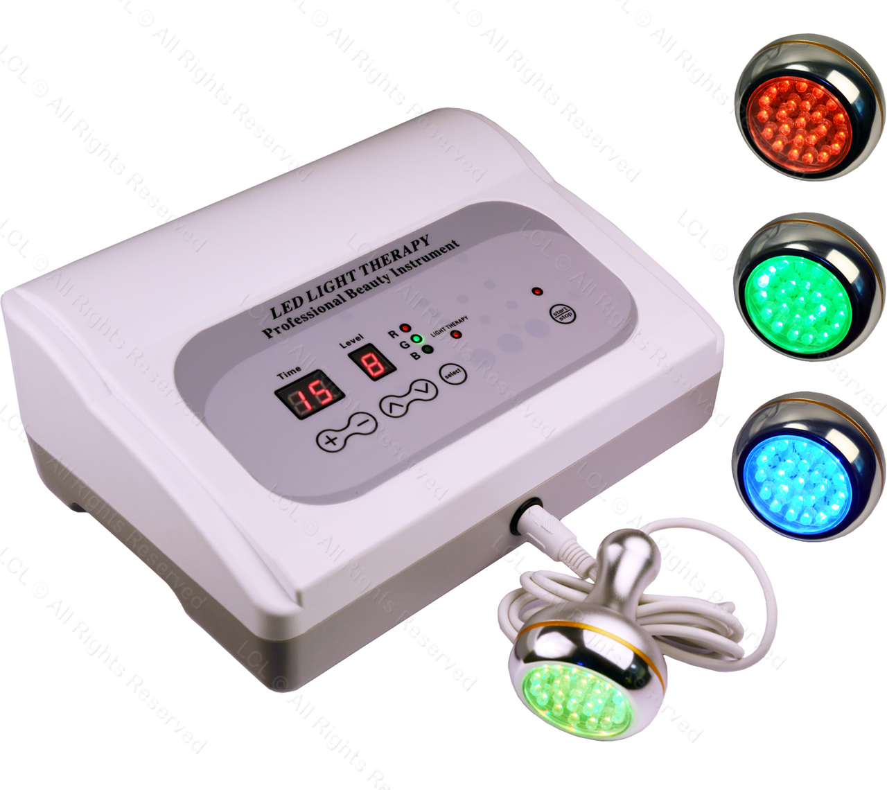 Pro 2072 Digital Led Phototherapy Facial Machine Red